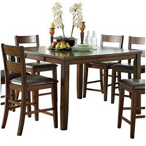 HomeTrend Atlanta Bistro Dining Set with Rectangular Table - Cherry - 7-Piece