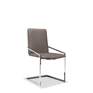Mazin Industries Crystalle Contemporary Side Chair - Gray - Set of 2