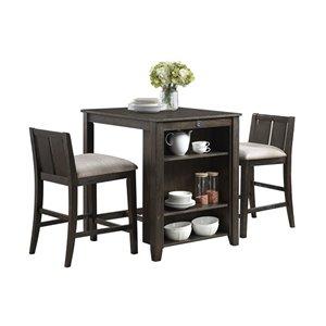 Ensemble de salle à manger Daye de HomeTrend, rectangulaire, cerisier, 3 pièces