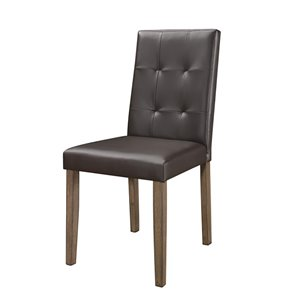 Mazin Industries Ahmet Traditional Side Chair - Espresso - Set of 2