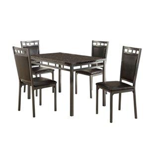 Ensemble de salle à manger The Olney de Mazin Industries, rectangulaire, marron, 5 pièces