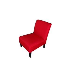 Mazin Industries Nadine Modern Linen Slipper Chair - Red