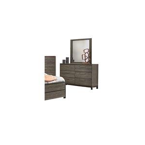 Commode avec miroir Vestavia de HomeTrend, 6 tiroirs, gris