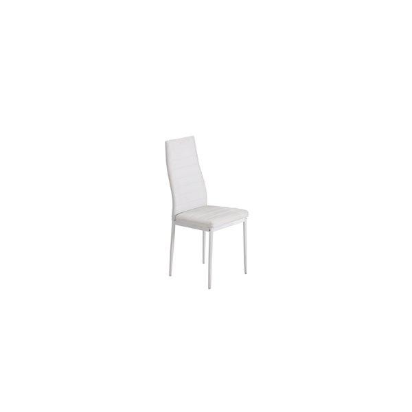 Ensemble de salle à manger Florian de Mazin Industries, rectangulaire, blanc, 7 pièces