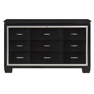Commode Allura de HomeTrend, 9 tiroirs, noir