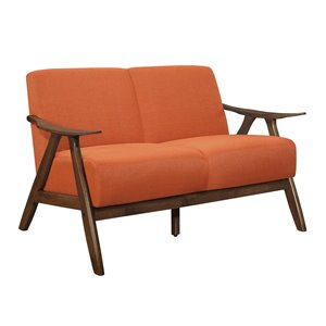 Mazin Industries Damala Casual Orange Polyester Loveseat