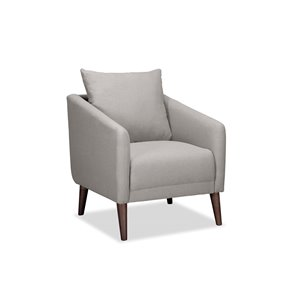 Mazin Industries Laurier Casual Polyester/Polyester Blend Accent Chair - Light Gray