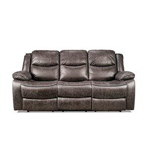 HomeTrend Klaus Modern Antique Gray Microfiber Sofa