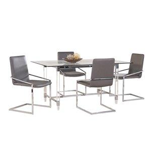 Ensemble de salle à manger Crystalle de Mazin Industries, rectangulaire, clair, 7 pièces