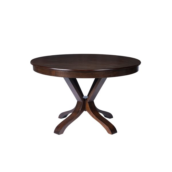 HomeTrend The Mesa Dining Set with Round Table - Brown - 5-Piece