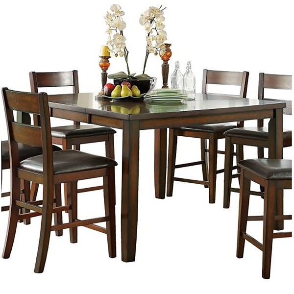 Mazin Industries Atlanta Bistro Dining Set With Rectangular Table Cherry 5 Piece 5547 36dr5 Rona