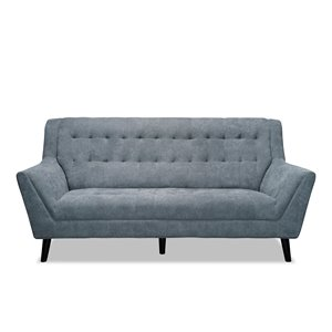 HomeTrend Erath Midcentury Gray Polyester Sofa