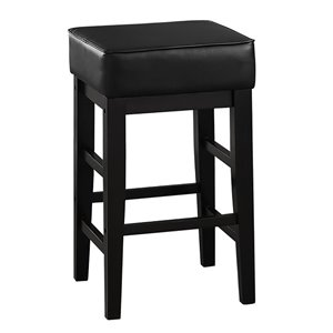 Mazin Industries Pittsville Bar Stools - Counter Height (22-in to 26-in) - Black - Set of 2