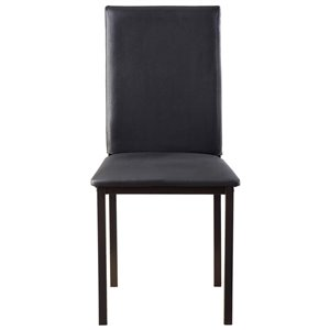 Mazin Industries Temple Transitional Side Chair - Black - Set of 2