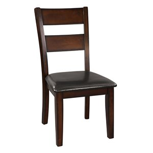 Mazin Industries Atlanta Transitional Side Chair - Brown - Set of 2