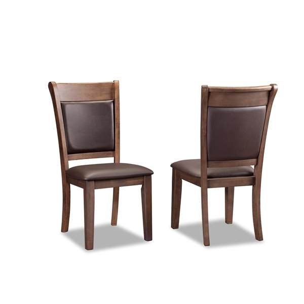 HomeTrend Wieland Dining Set with Rectangular Table - Brown - 6-Piece