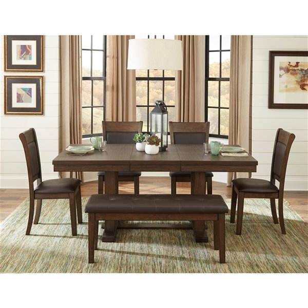 Hometrend Wieland Dining Set With, 6 Piece Dining Room Set