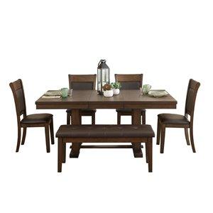 Ensemble de salle à manger Wieland de Mazin Industries, rectangulaire, marron, 6 pièces