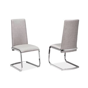 Mazin Industries The Artis Contemporary Side Chair - Chrome - Set of 2