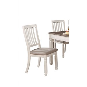 Mazin Industries Nesbitt Contemporary Side Chair - White - Set of 2