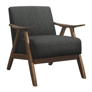 Mazin Industries Damala Modern Polyester/Polyester Blend Accent Chair - Dark Gray