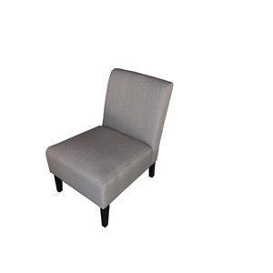 Mazin Industries Nadine Modern Linen Slipper Chair - Gray