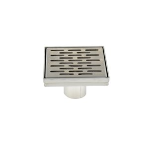 Towo Square Shower Drain - Grill Grid - 5 3/32-in x 5 3/32-in - Stainless Steel