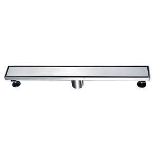 Towo Linear Shower Drain - Solid Grid - 36-in x 3-in - Stainless Steel