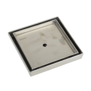 Towo Square Shower Drain - Tile-In - 5 3/32 in x 5 3/32 in - Stainless Steel