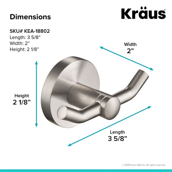 Kraus Elie Bathroom Accessory Set - 4 Pieces - Brushed Nickel