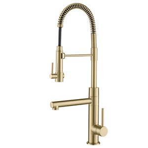 Kraus Pull-Down Kitchen Faucet with Pot Filler - Antique Champagne Bronze