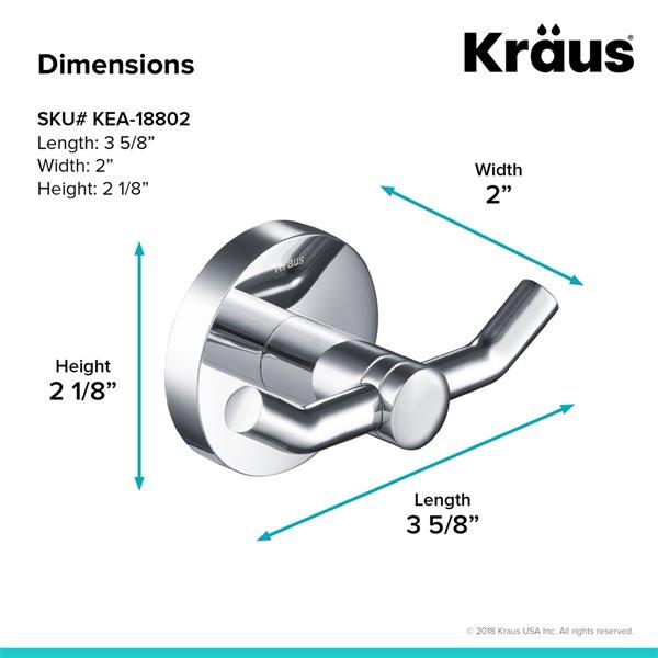 Kraus Elie Bathroom Accessory Set - 4 Pieces - Chrome