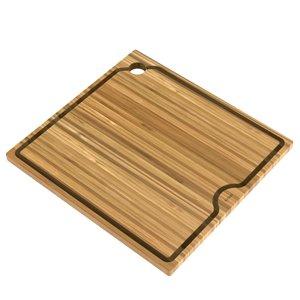Kraus Workstation Kitchen Sink Solid Bamboo Cutting Board - 16-in - Brown