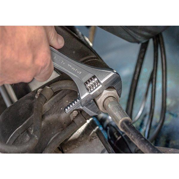 Clé à molette ajustable Channellock, acier, 8 po, réversible