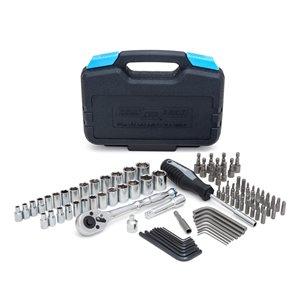 Ensemble d'outils de mécanique Channellock Professional, SAE et métrique, 1/2 po; 3/4 po, 94 mcx