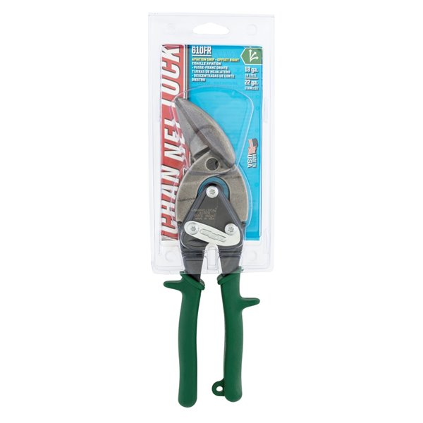 Channellock Professional 10-in Aviation Snip/Offset Right Cut Snips - Forged Alloy Steel