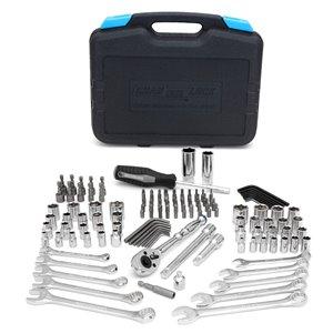 Ensemble d'outils de mécanique Channellock Professional, SAE et métrique, 1/2 po; 3/4 po, 132 mcx