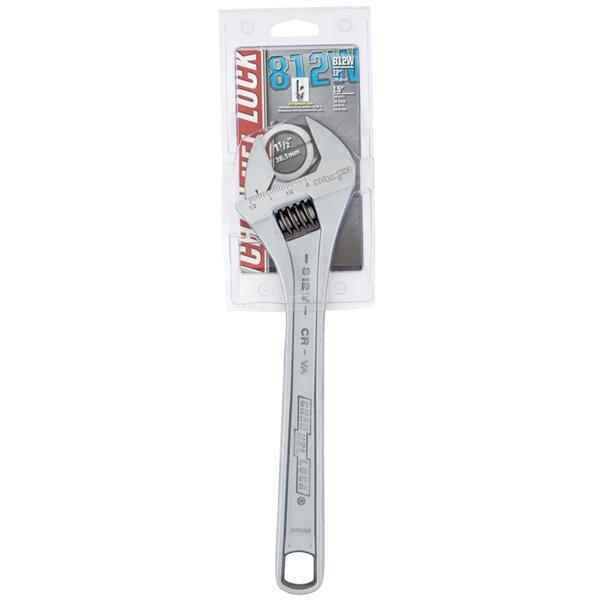 Clé à molette ajustable Channellock, acier, 12 po, largeur de 3,42 po