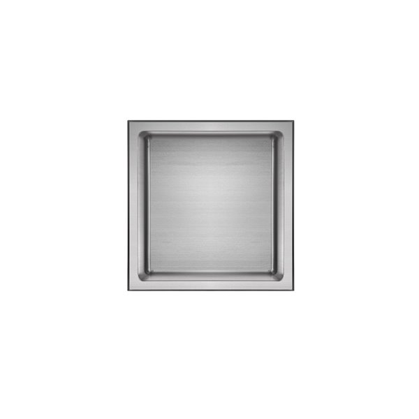 Akuaplus Bath Shower Niche - 12-in x 12-in - Polished Stainless Steel