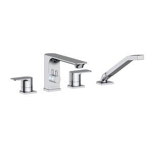 Akuaplus ELENA Roman Bathtub Faucet with Hand Shower - Chrome