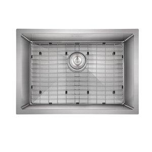 Akuaplus FIONA Single Undermount Kitchen Sink - 24 in x 18 in - Stainless Steel