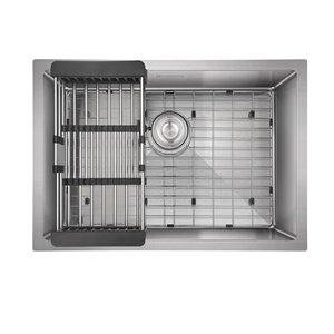 Akuaplus FIONA Single Undermount Kitchen Sink - 26-in x 18-in - Stainless Steel