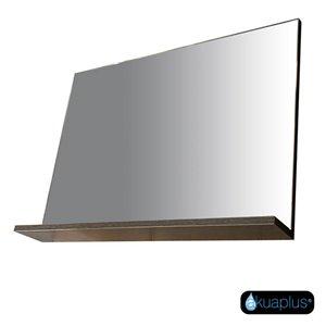 Miroir avec étagère d'Akuaplus, 31,5 po x 23,62 po x 4,75 po, chêne alamo