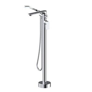 Robinet de baignoire autoportant ELENA d'Akuaplus avec douche à main, chrome