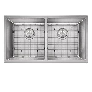 Évier de cuisine encastré double MARA d'Akuaplus, 32 po x 18 po, acier inoxydable
