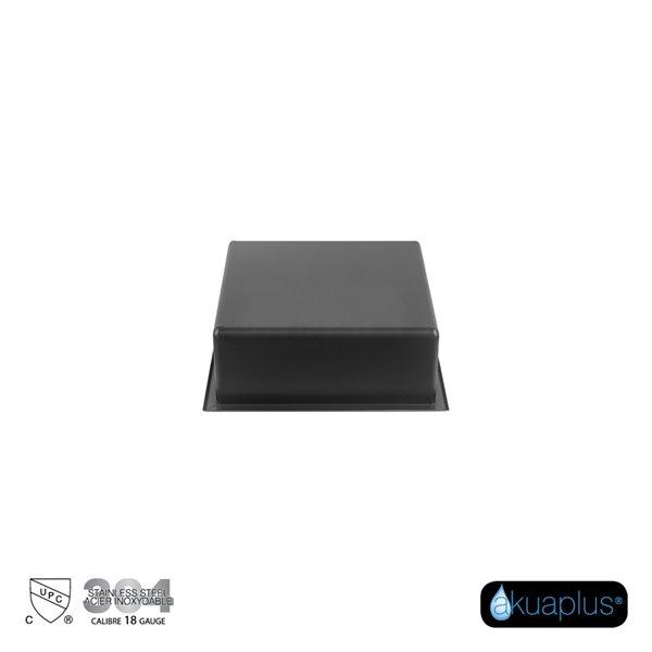 Akuaplus Bath Shower Niche - 12-in x 12-in - Stainless Steel - Matt Black