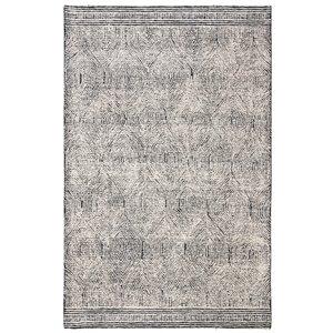 Tapis décoratif rectangulaire Abstract de Safavieh, fait à la main, 4 pi x 6 pi, ivoire/chocolat