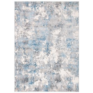 Tapis décoratif Lagoon LGN521G-8 de Safavieh, rectangulaire, 8 pi x 10 pi, gris clair/bleu clair