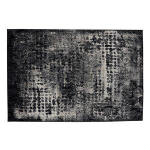 Tapis Anchorage de la Collection Bourbon Street, 5 pi x 8 pi, gris