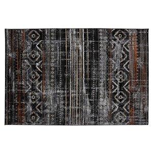 Tapis Mystic de la Collection Bourbon Street, 8 pi x 10 pi, noir